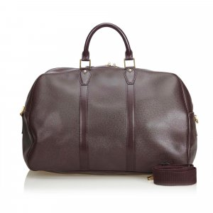 Louis Vuitton Travel Bag brown leather