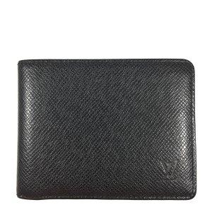 Louis Vuitton Taiga Leder Ardoise Grau Geldbörse Geldtasche Portemonnaie