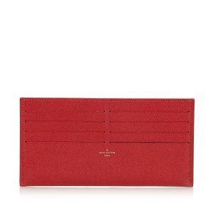 Louis Vuitton Tarjetero rojo Cuero