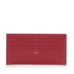 Louis Vuitton Kaartetui rood Leer