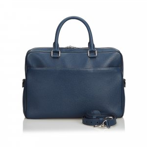 Louis Vuitton Business Bag blue leather