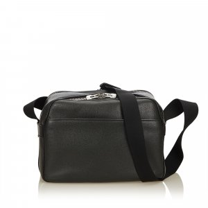 Louis Vuitton Sac bandoulière noir cuir