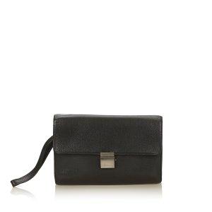 Louis Vuitton Clutch black leather