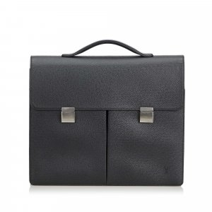 Louis Vuitton Business Bag black leather