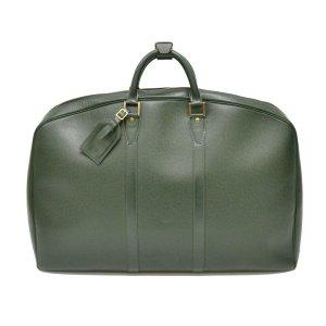 Louis Vuitton Bagage groen Leer