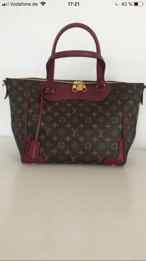 Louis Vuitton Sac à main brun foncé-bordeau