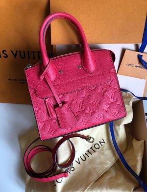Louis Vuitton Handtas framboosrood Leer