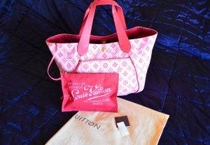 Louis Vuitton Sac à main rose clair-rouge foncé