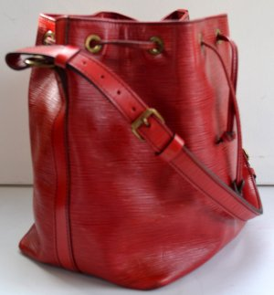 Louis Vuitton Borsellino rosso-rosso scuro Pelle