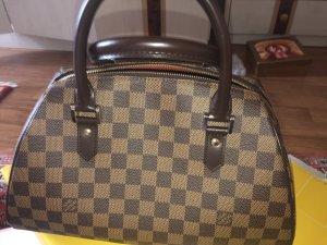 Louis Vuitton Bolso marrón oscuro-beige Cuero