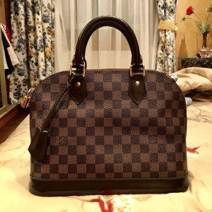 Louis Vuitton Handtas bruin-room Leer