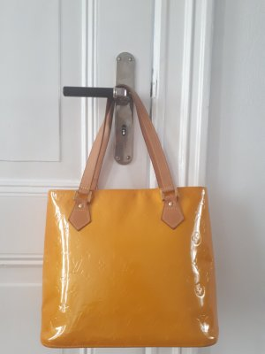 Louis Vuitton Bolso barrel naranja dorado Cuero