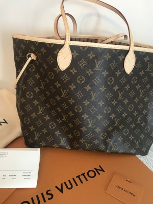 Louis Vuitton Sac à main beige-gris brun cuir
