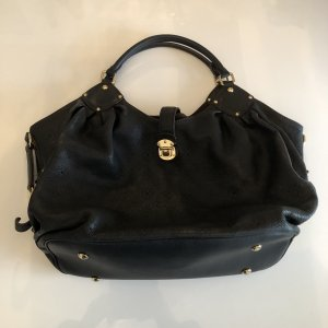 Louis Vuitton Bolsa de hombro negro-color oro