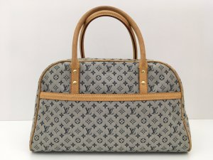 Louis Vuitton Sac Baril bleu azur-brun sable cuir