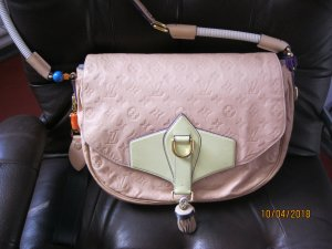 Louis Vuitton Gekruiste tas beige Leer