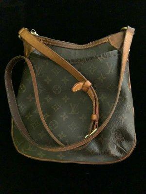 Louis Vuitton Sac porté épaule brun noir cuir