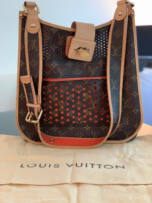 Louis Vuitton Tasche, Orange Monogram Canvas Perforated Musette