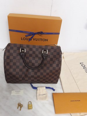 Louis Vuitton Bolso color bronce-negro