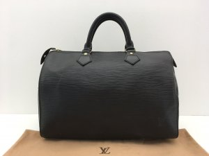 Louis Vuitton Carry Bag black leather
