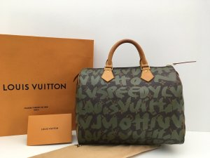 Louis Vuitton Tasche Speedy 30 Graffiti khaki 2001 LIMITIERT