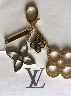 Louis Vuitton Key Chain light grey-gold-colored stainless steel
