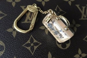 Louis Vuitton Key Chain beige-gold-colored