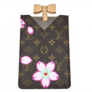 Louis Vuitton Taschenspiegel Mirror Card Monogram Cherry Blossom Canvas