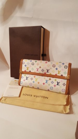 Louis Vuitton Tresor Geldbeutel Multicolor Weiß