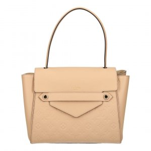 Louis Vuitton Sac à main beige clair cuir