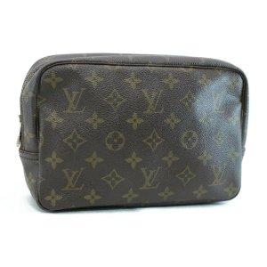 Louis Vuitton Bolso de mano marrón fibra textil