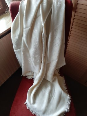 Louis Vuitton Shoulder Scarf natural white cotton