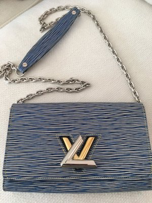 Louis Vuitton Clutch neon blue-light grey leather