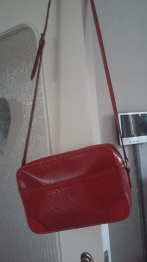 Louis Vuitton Gekruiste tas donkerrood-baksteenrood