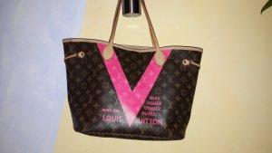louis vuitton v pink monogramm 2015 ausverkauft neverfull mm tasche