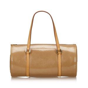 Louis Vuitton Sac porté épaule beige faux cuir