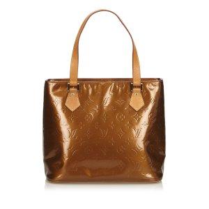 Louis Vuitton Sac fourre-tout bronze faux cuir