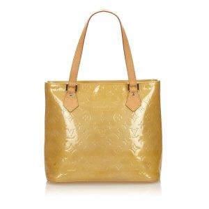 Louis Vuitton Sac fourre-tout jaune faux cuir