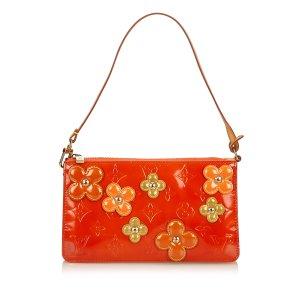Louis Vuitton Borsetta arancione Finta pelle