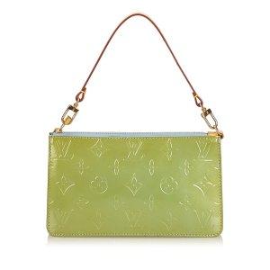 Louis Vuitton Handtas groen Imitatie leer