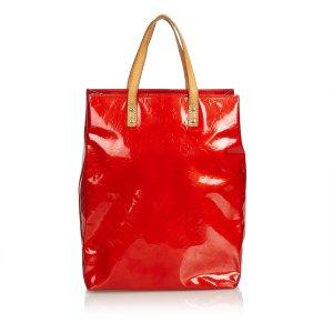 Louis Vuitton Bolso de compra rojo Imitación de cuero