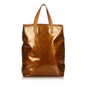 Louis Vuitton Bolso de compra color bronce Imitación de cuero
