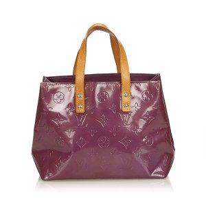 Louis Vuitton Bolso de compra púrpura Imitación de cuero
