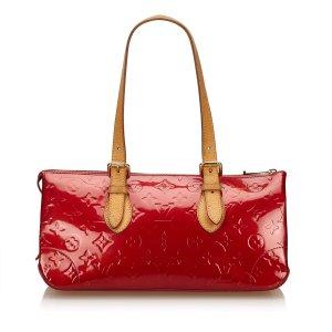 Louis Vuitton Sac porté épaule rouge faux cuir