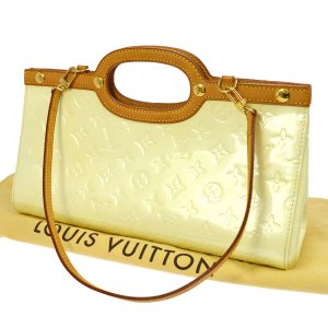 Louis Vuitton Handtas wit Leer