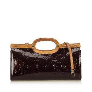 Louis Vuitton Cartella viola Finta pelle