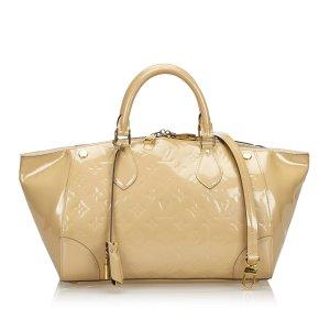Louis Vuitton Mochila de colegio beige Imitación de cuero
