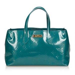 Louis Vuitton Sac à main bleu faux cuir