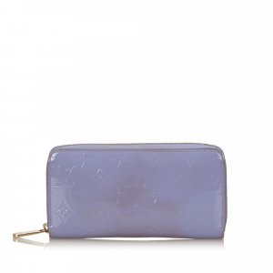 Louis Vuitton Portefeuille violet faux cuir