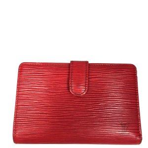 Louis Vuitton Viennois Epi Leder Rot Geldbörse Geldtasche Portemonnaie